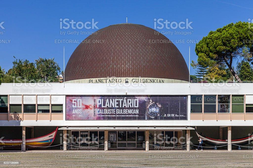 Calouste Gulbenkian Planetarium. Lisbon stock photo
