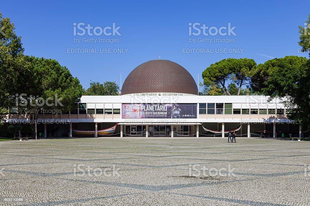 Calouste Gulbenkian Planetarium. Lisbon. stock photo