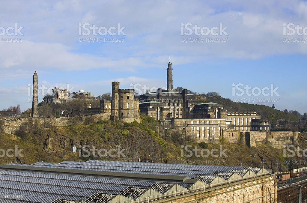 Calton Hill, Edinburgh. stock photo