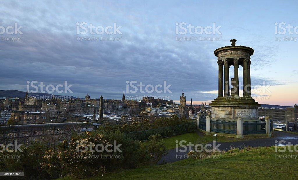 Calton Hill Edinburgh stock photo