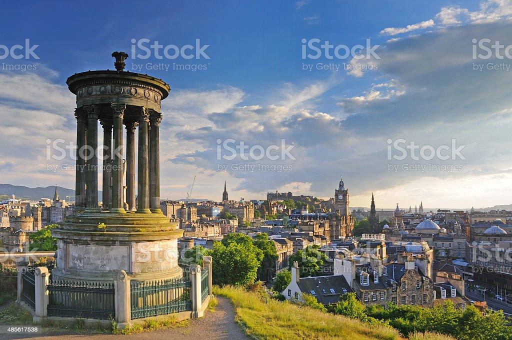 Calton Hill, Edinburgh, Scotland stock photo