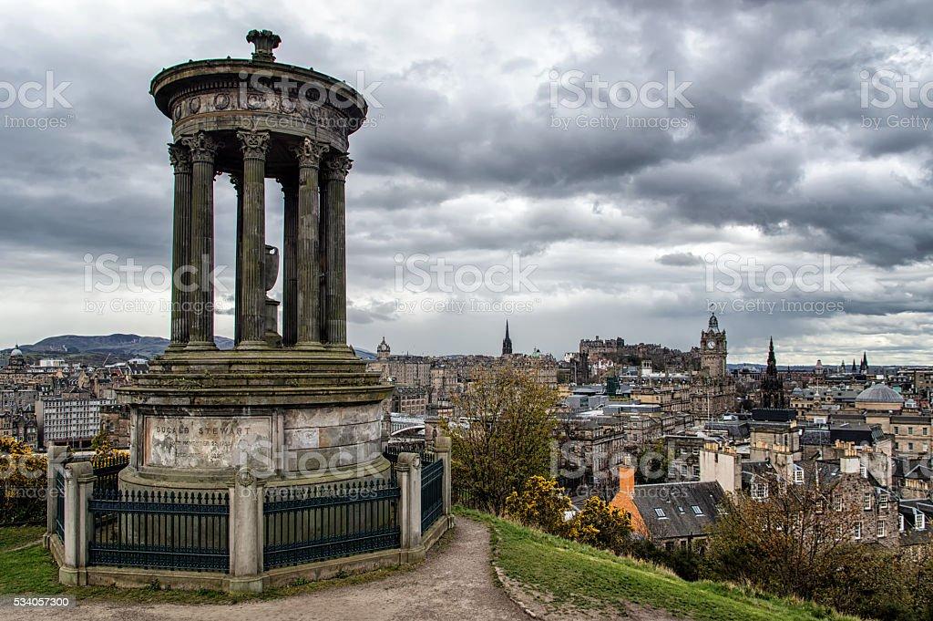 Calton Hill in Edinburgh - Scotland stock photo