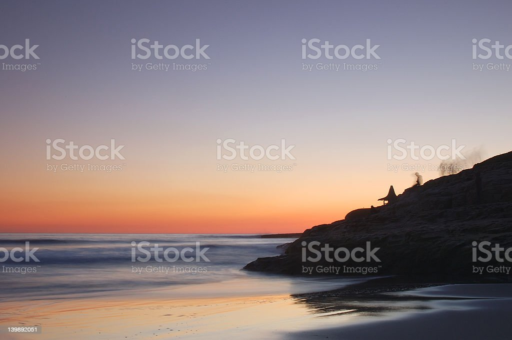 Caluifornia sunset stock photo