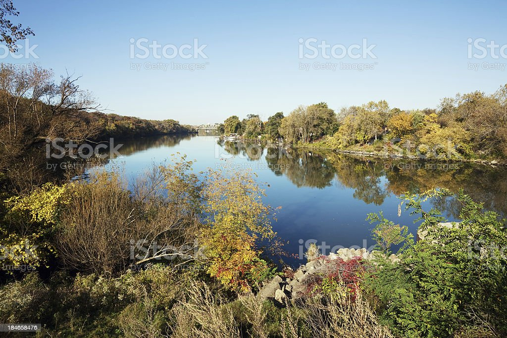 Calumet River in West Pullman, Chicago stock photo