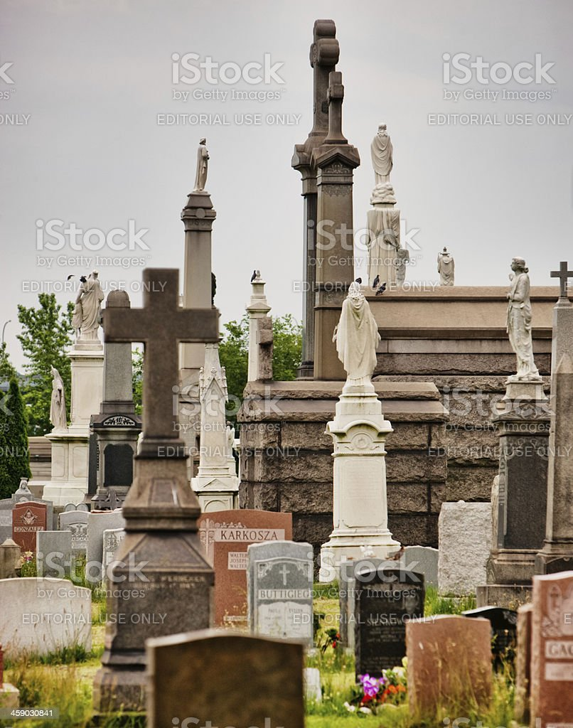 Calvary Cemetery in Queens stock photo