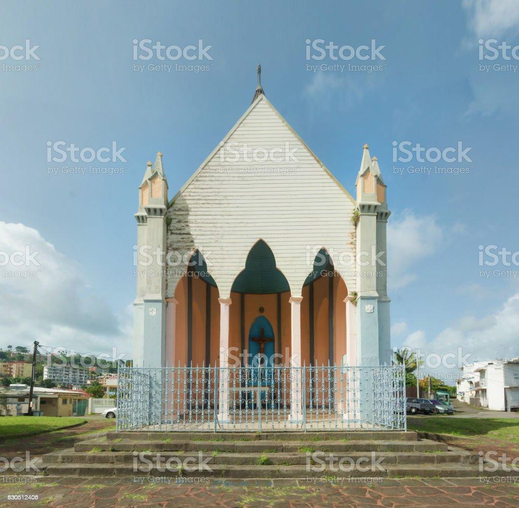 Calvary Chapel hill (Chapelle du Calvaire), Martinique stock photo
