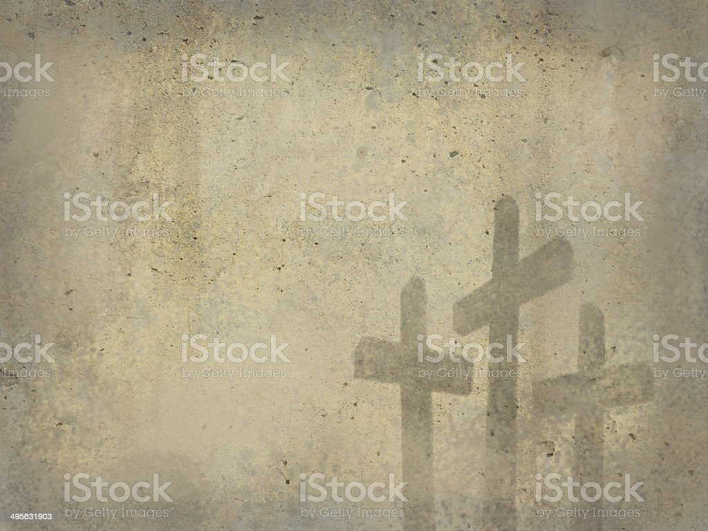 Calvary Crosses Grunge Texture Christian Religion Cross Background Easter Resurrection stock photo