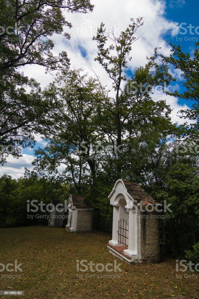 Calvary in the Bakony stock photo