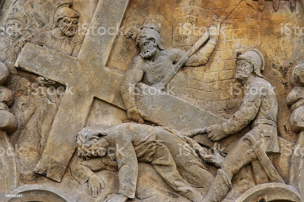 Calvary - Jesus falls the second time royalty-free stock photo