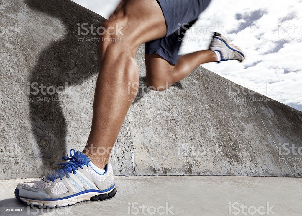 Calves like these take hard work stock photo