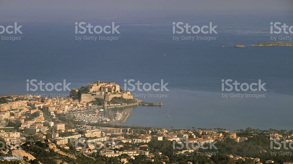 Calvi port and citadel, Corsica royalty-free stock photo