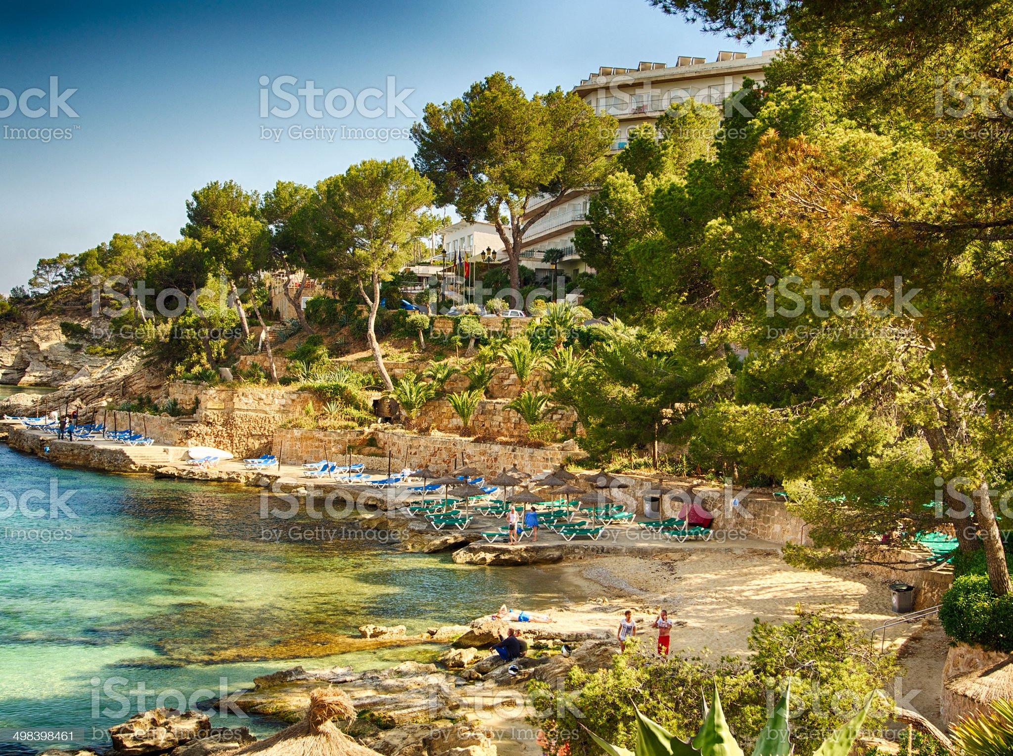Calvia Cala Fornells turquoise mediterranean in Majorca royalty-free stock photo