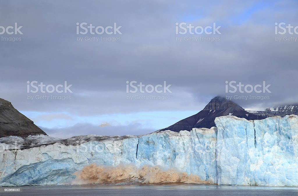 Calving Glacier stock photo