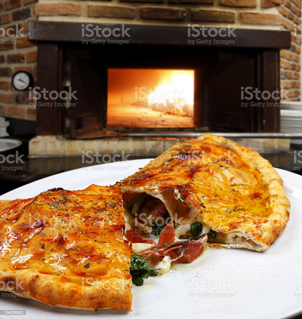 Calzone royalty-free stock photo