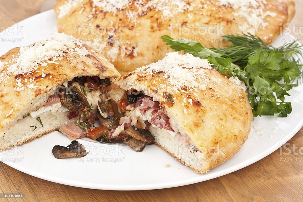 Calzone Pizza royalty-free stock photo