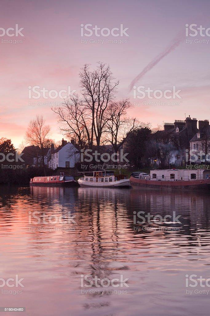 Cam River,Cambridge, England stock photo