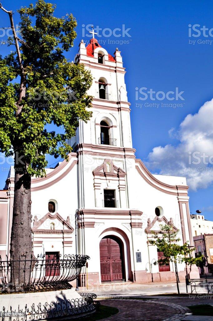 Camaguey, Cuba; Iglesia de Nuestra Senora de la Merced church stock photo