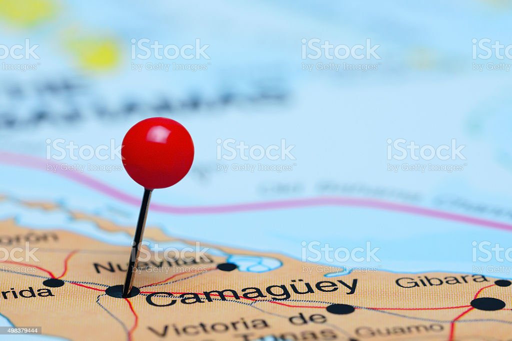 Camaguey Pinned On A Map Of America stock photo 498379444 iStock