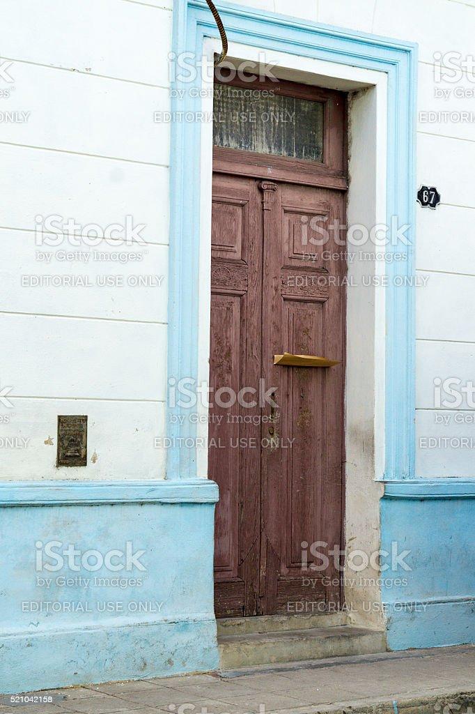 Camaguey,Cuba: Natal House of Gertrudis Gomez de Avellaneda stock photo
