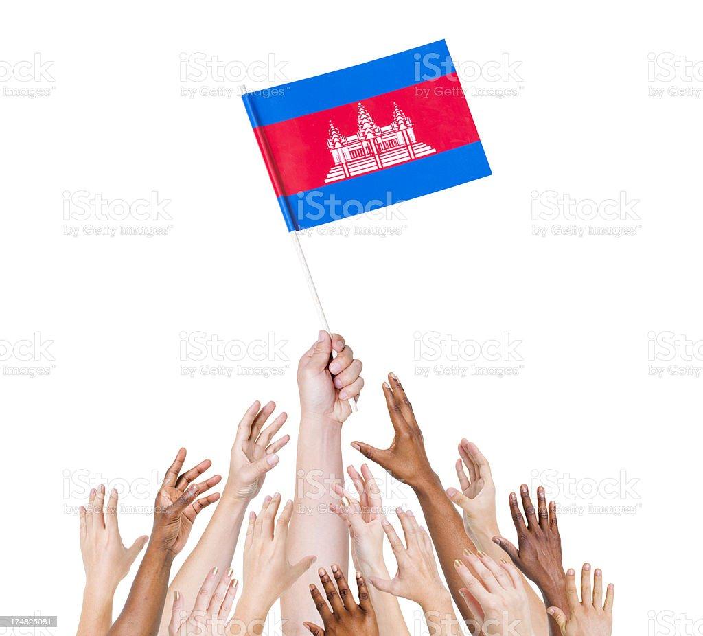 Cambodia Flag royalty-free stock photo