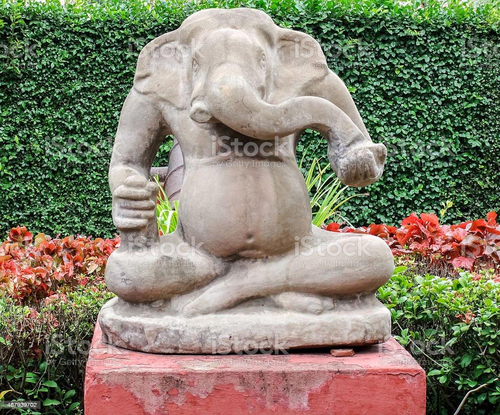 Cambodia Ganesha Statue stock photo