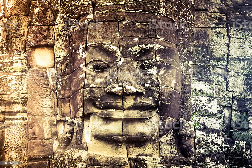 Cambodia icon face stock photo