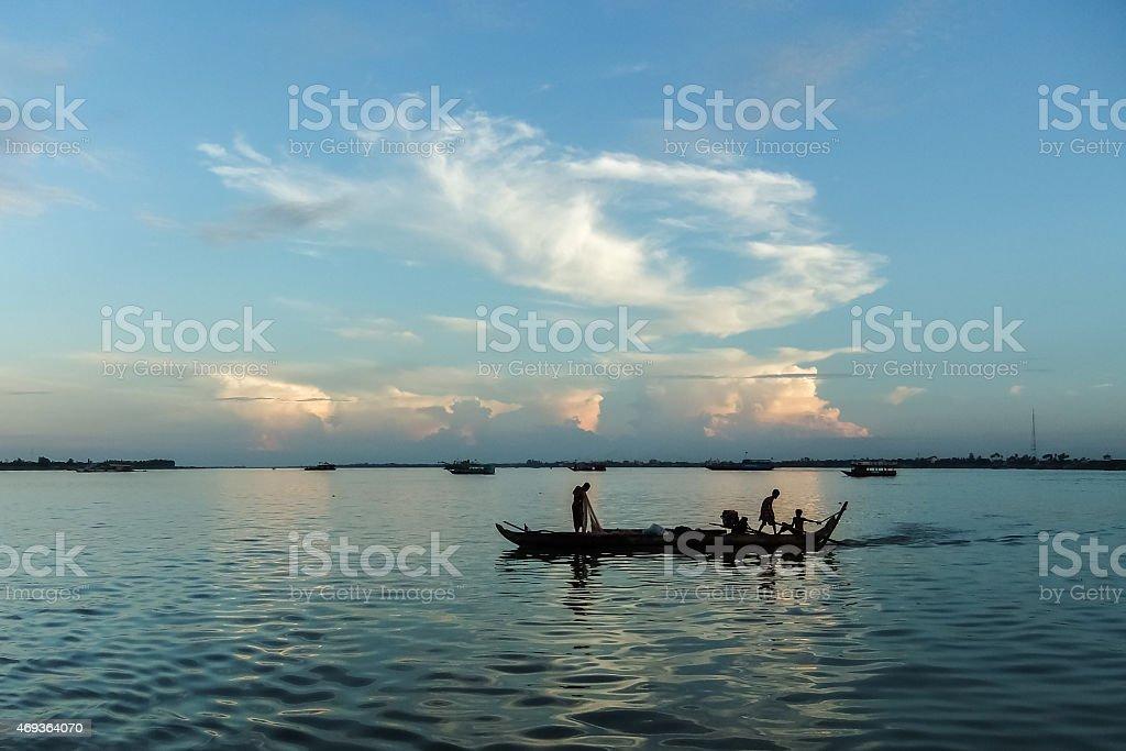 Cambodia Mekong Life stock photo
