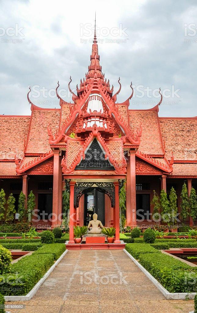 Cambodia National Museum of Cambodia stock photo
