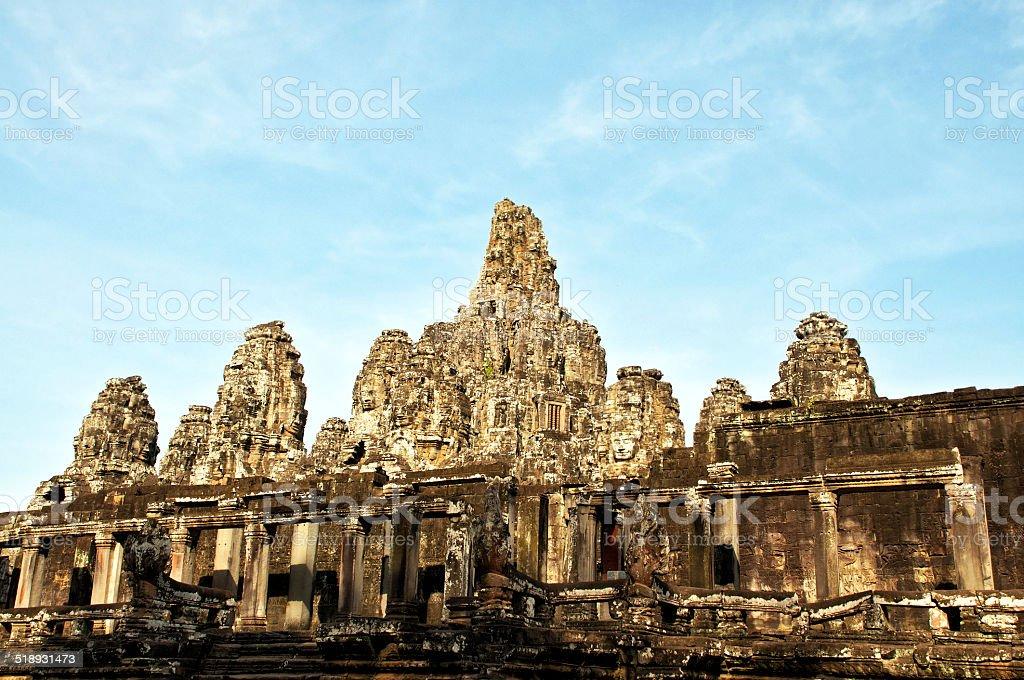 Kambodża, Siem Reap, Angkor architektoniczne Park, Bayon. zbiór zdjęć royalty-free