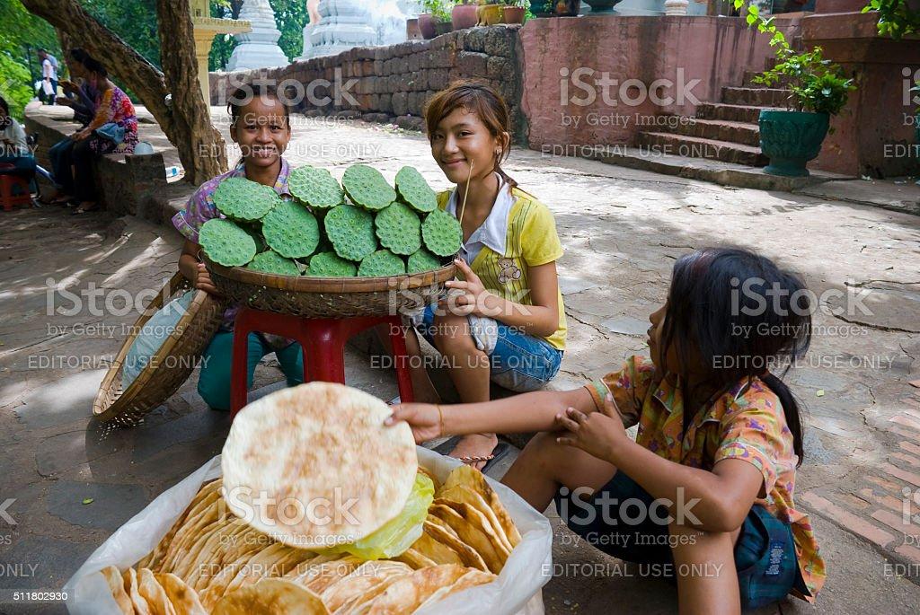 Cambodian children in Phnom Penh stock photo