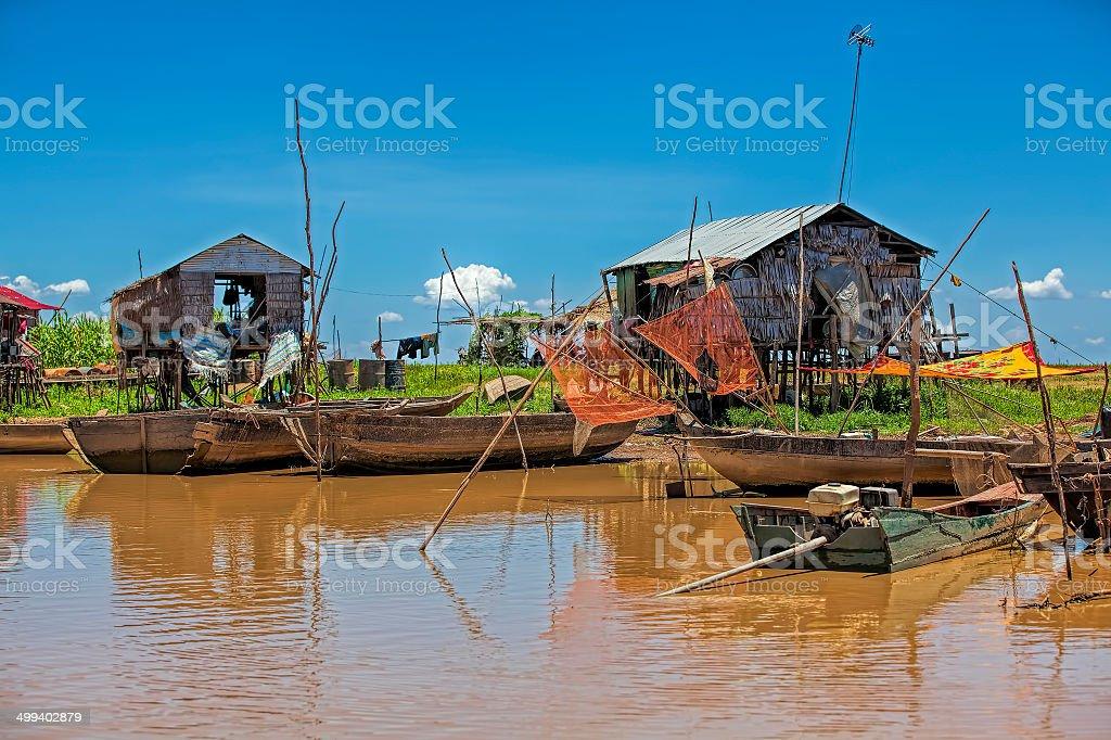 Cambodian everyday life stock photo