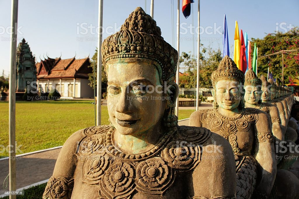 Cambodian Independence Monument in Siem Reap stock photo