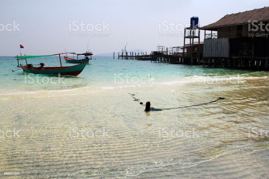 Cambodian Island stock photo