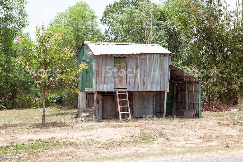 cambodian shanty stock photo