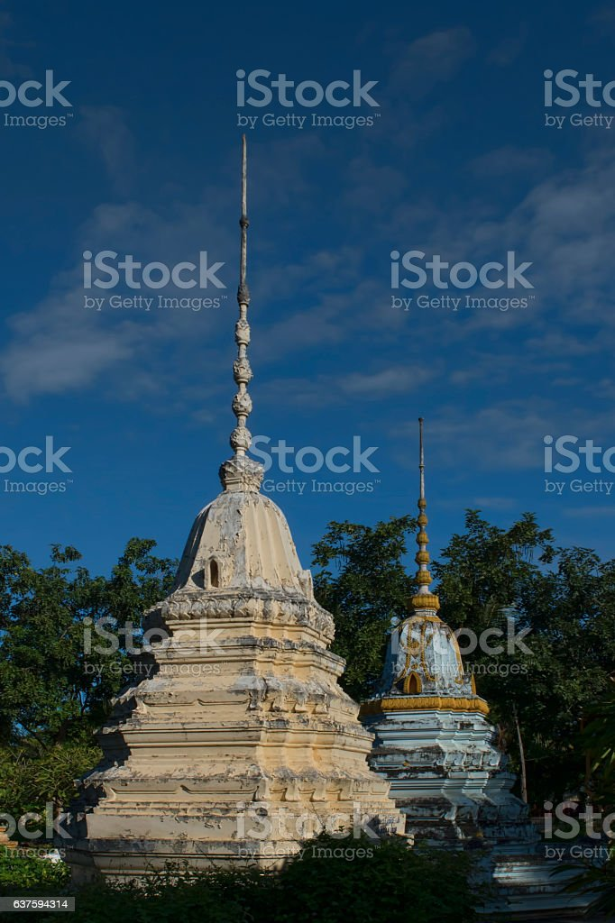 Cambodian Stupas stock photo