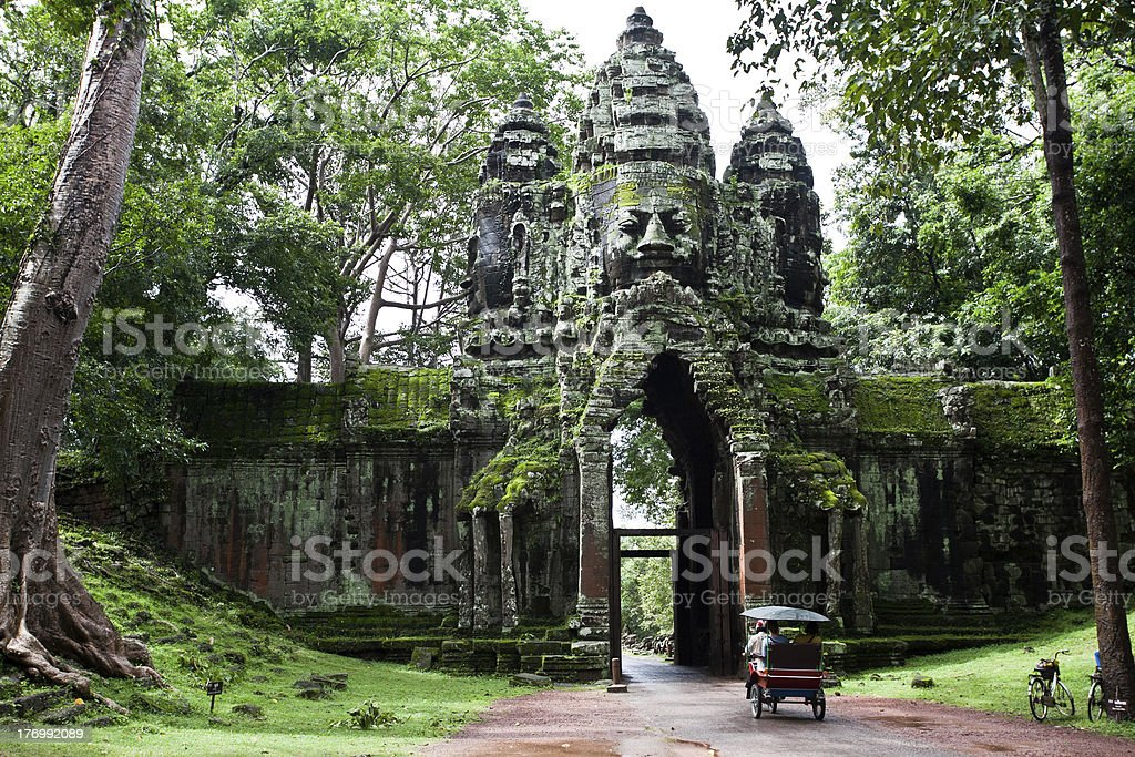 Cambodian temple stock photo