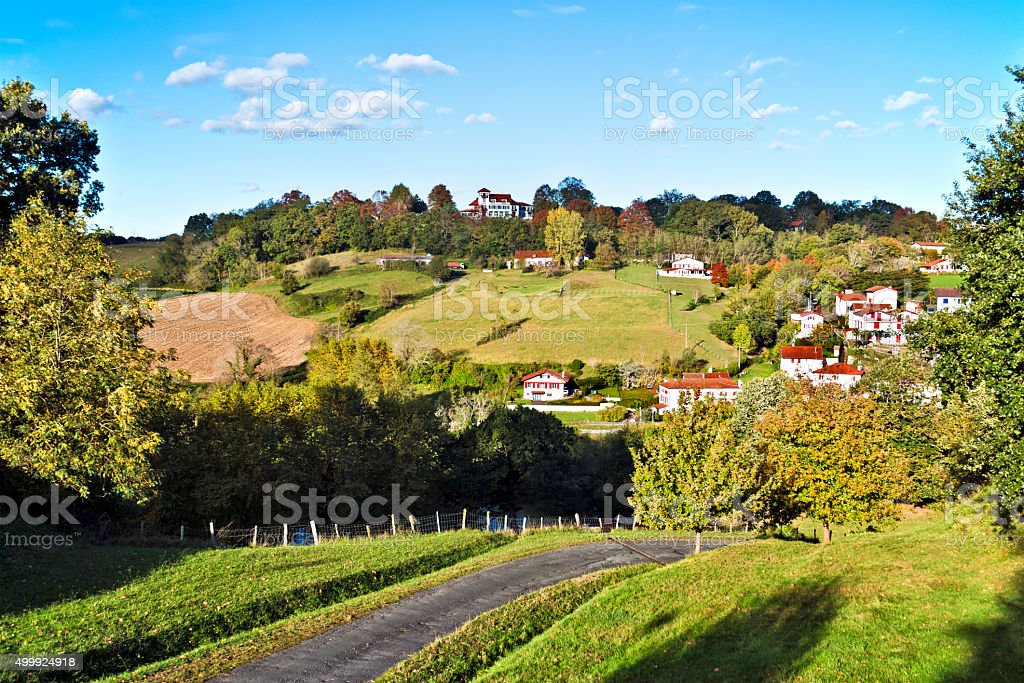 Cambo-les-Bains countryside landscape stock photo