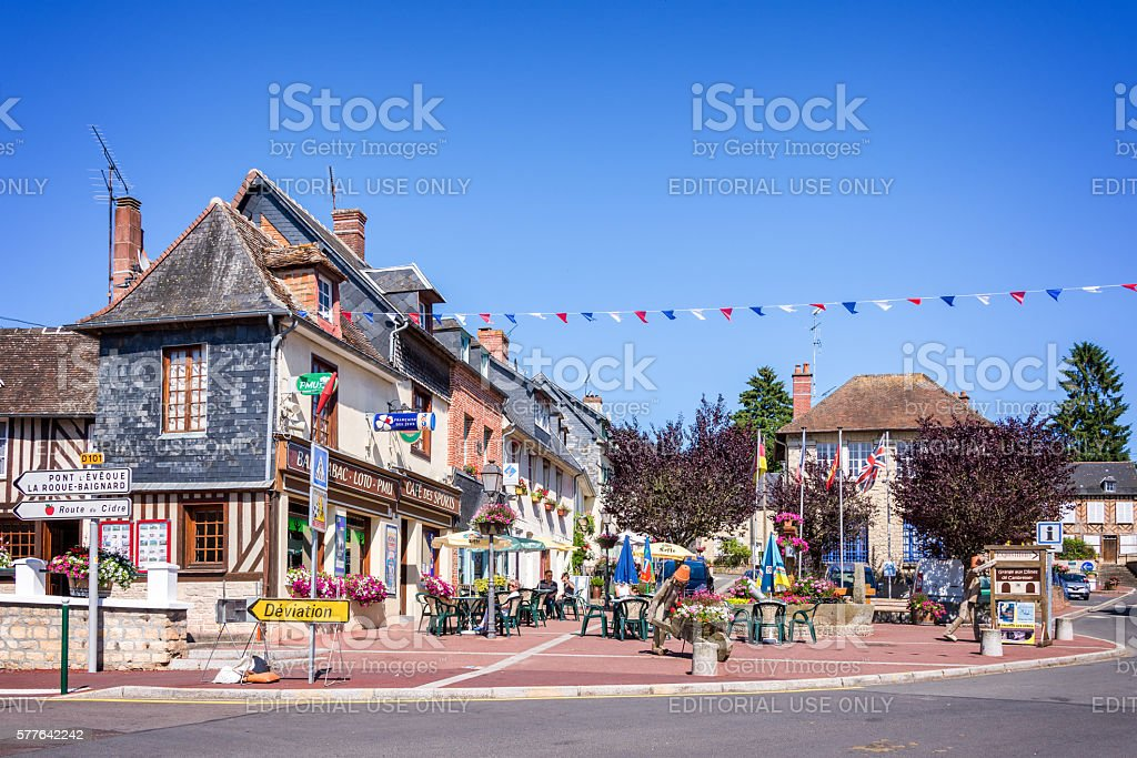 Cambremer, picturesque village in Normandy, in France stock photo