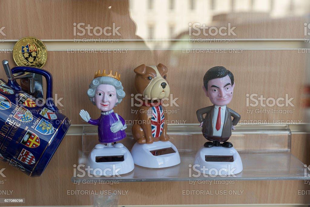 cambridge england shop window display queen stock photo
