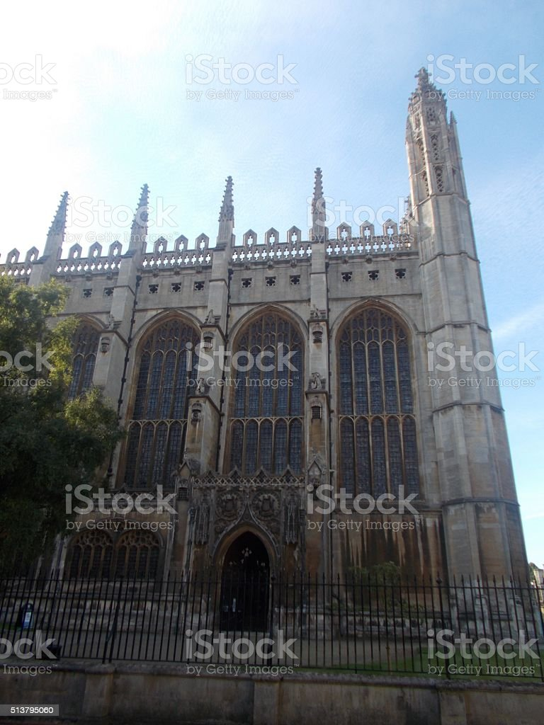 cambridge - king's college chapel stock photo