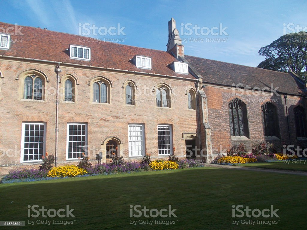 cambridge - magdalene college  and nature stock photo