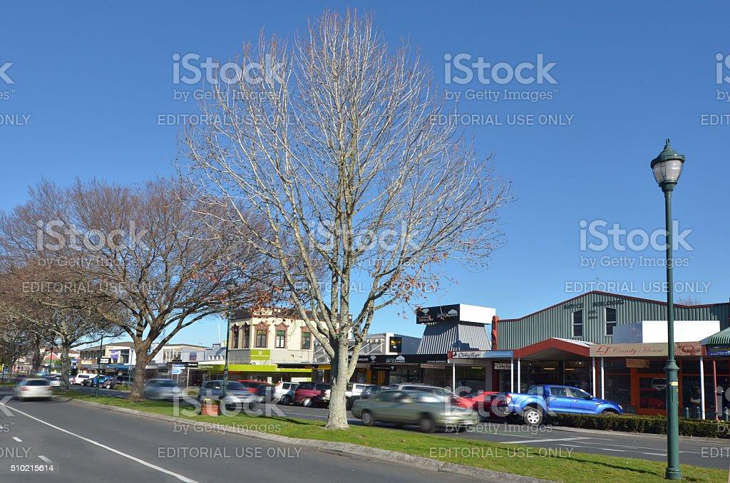 Cambridge New Zealand stock photo