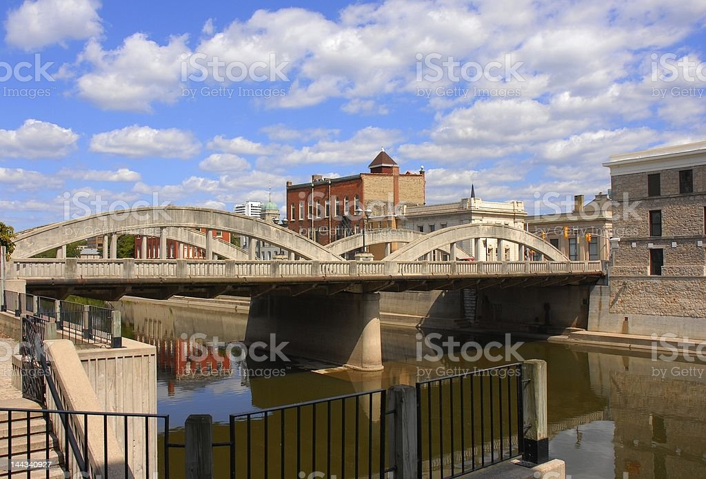 Cambridge on the Grand River royalty-free stock photo