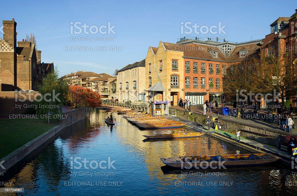 Cambridge punting stock photo