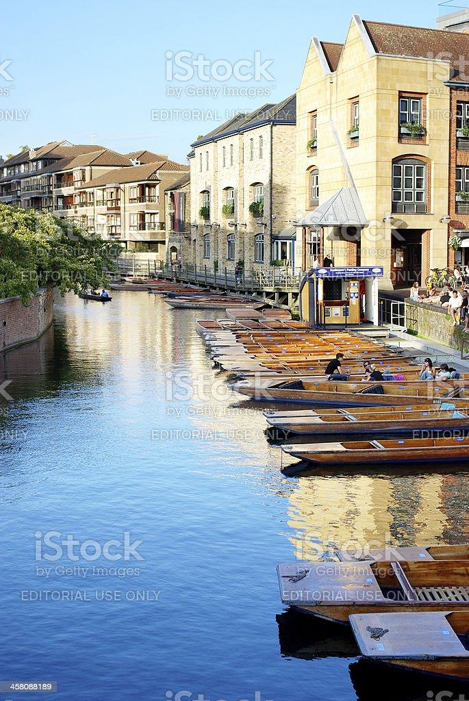 Cambridge scene on river Cam stock photo