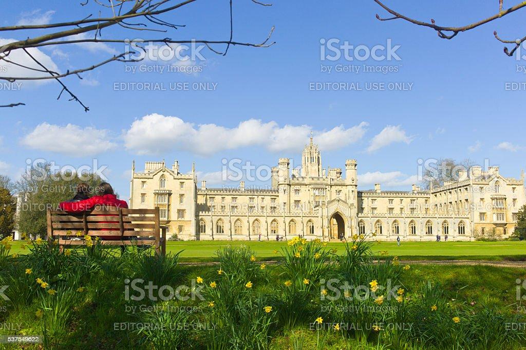 Cambridge, St John's College, United Kingdom stock photo