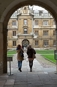 Cambridge University architecture street scene
