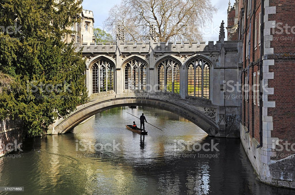 Cambridge University Bridge stock photo