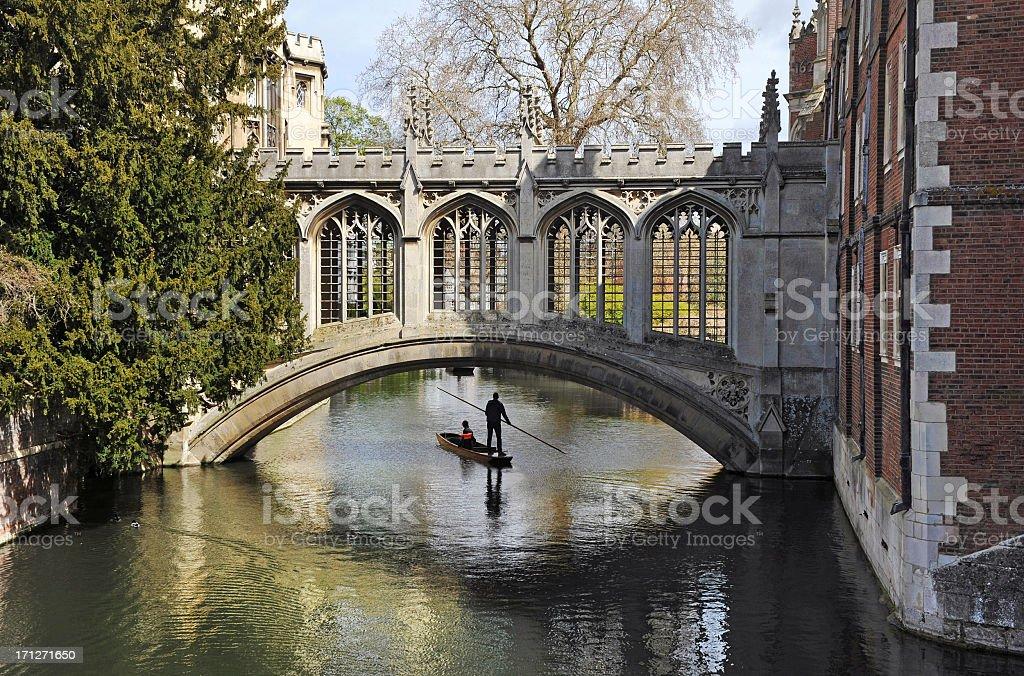 Cambridge University Bridge stock photo