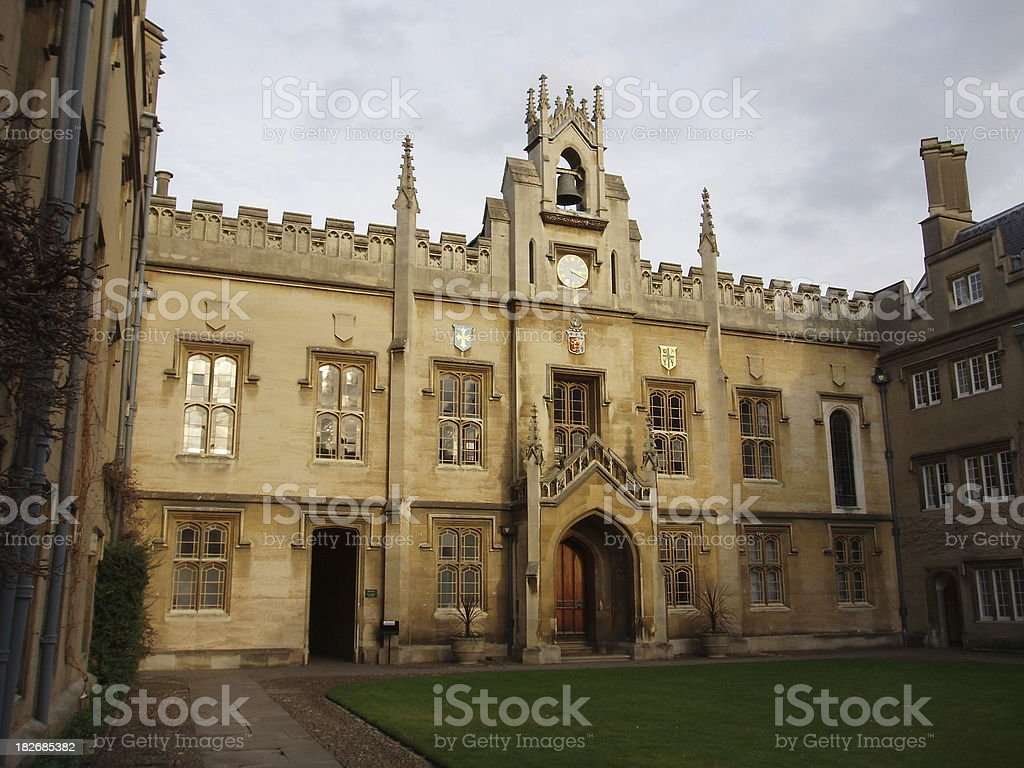Cambridge university building architecture England royalty-free stock photo